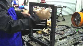 Metal Fabrication on a StrongHand Build Pro Welding Table