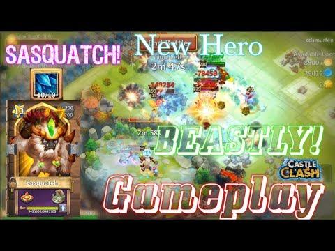 Sasquatch Devolved 10/10 Skill Gameplay INSANE!Castle Clash