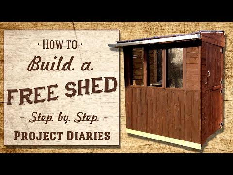 ★ How to: Build a FREE Shed (A Complete Step by Step Guide)