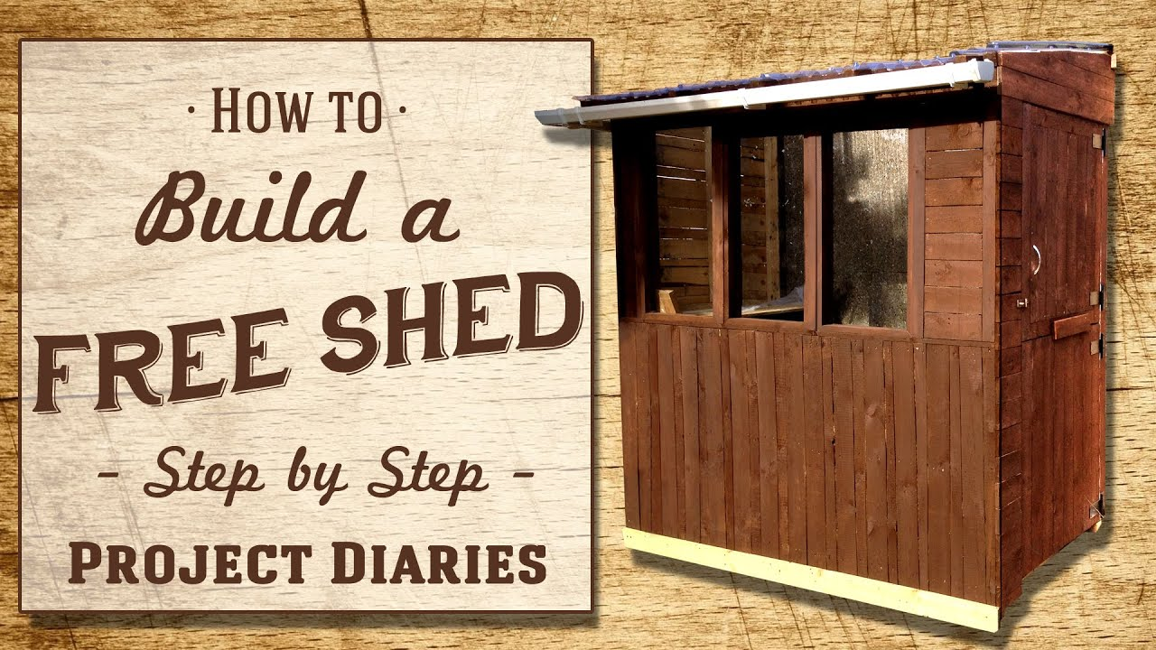 ☆ How to Build a FREE Shed A plete Step by Step Guide