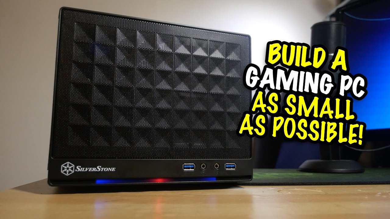 living room friendly pc case black and white decor build a gaming as small possible youtube