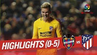 Resumen de Levante UD vs Atlético de Madrid (0-5)
