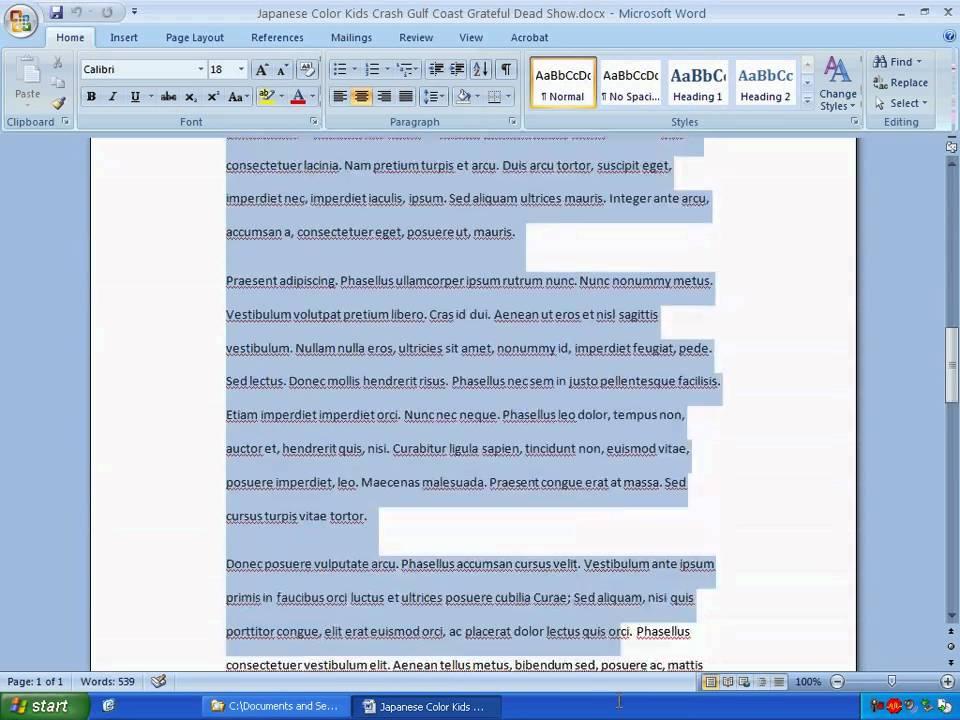 Lesson 01 Formatting Article Text In Microsoft Word Youtube