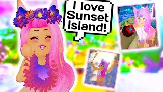 I FOUND THE BIGGEST SECRET IN SUNSET ISLAND? Roblox Royale High School