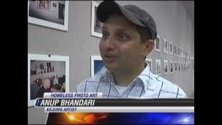 "Healing Art Project "" From The Eyes Of The Homeless"" ( Anup Bhandari ) June 10 , 2012 NewsClip"