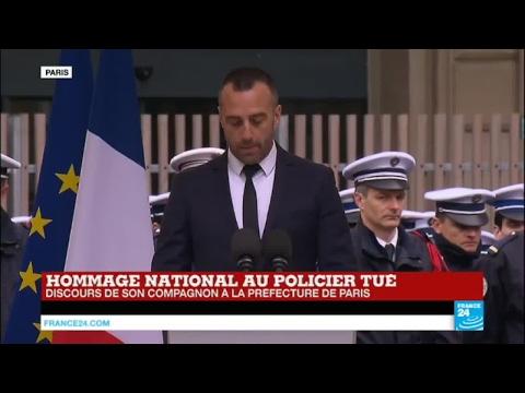 Hommage au policier tué sur les Champs-Elysées : l'émouvant discours de son conjoint