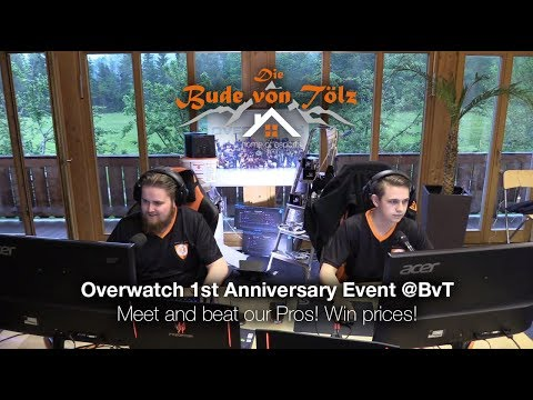 Overwatch 1st anniversary event @ bvt meet and beat our pros! win