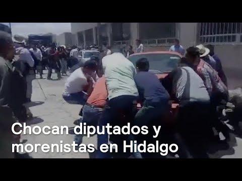Diputados y morenistas se enfrentan con policías en Hidalgo - En Punto con Denise Maerker