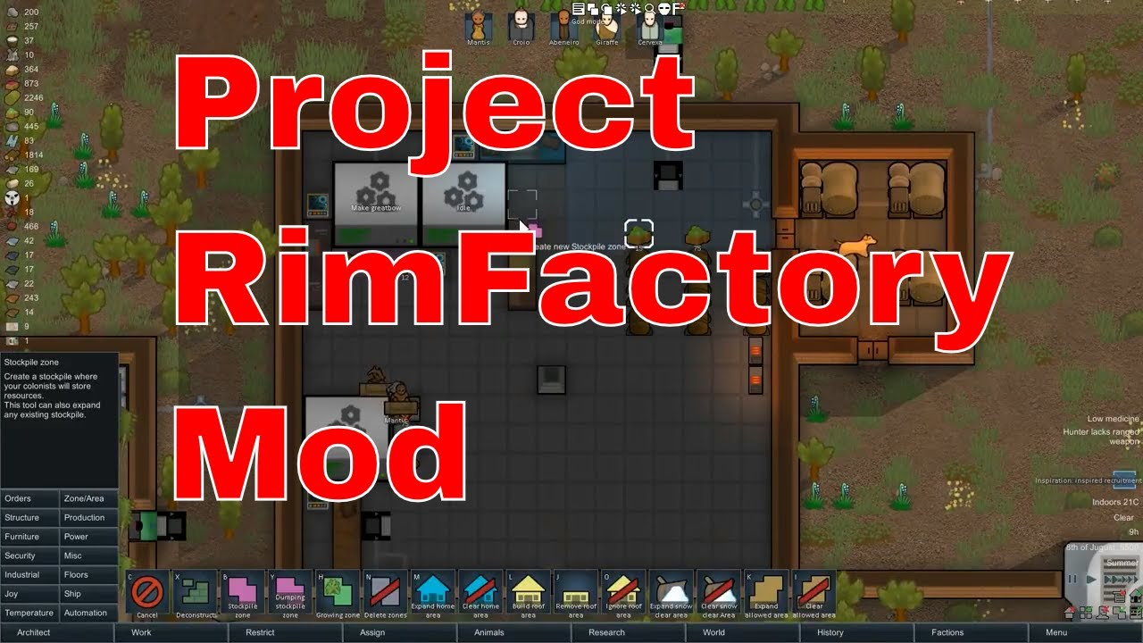 Rimworld Beta 18 Project RimFactory mod - Rimworld Project RimFactory  Tutorial