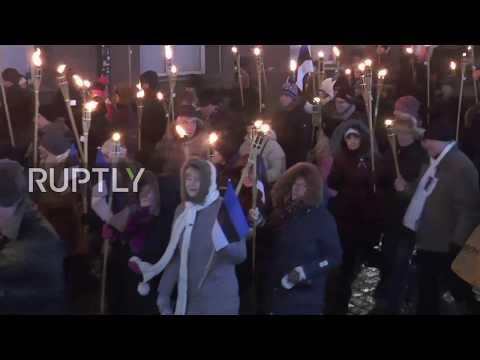 Estonia: Military parade and march honour 100th anniversary of Estonia