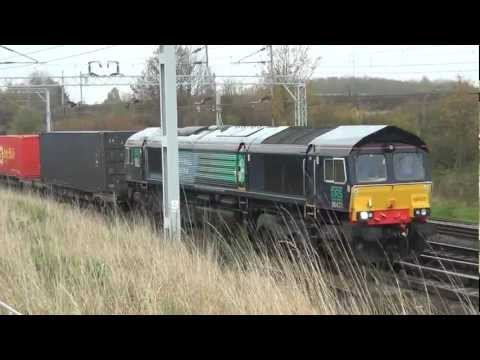 WCML Freight Sunrise to Sunset 10th November 2011