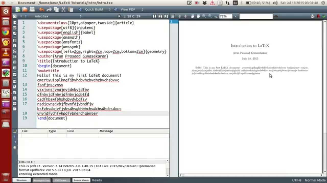 LaTeX Programming : 004 : Getting Started and Configuring Texmaker ...