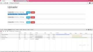 jquery php ajax - multi form image uploader, bootstrap progress, abort
