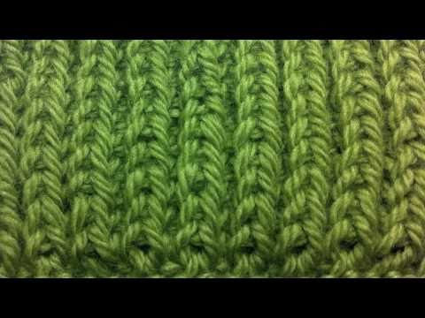 New Stitch A Day: How to Knit Left Handed - The Fishermans Rib Stitch - ...