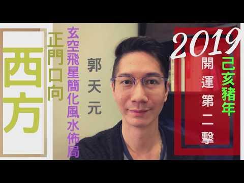【風水】風水2019十二生肖簡化佈局 豬年⭐️ ⎮ 正門向►西方