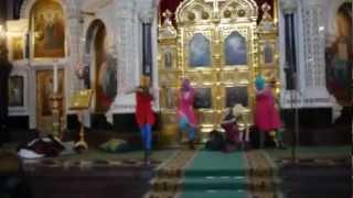 Панк-Ебля-молебен в храме христа спасителя Pussy Riot+Путин(Панк-молебен