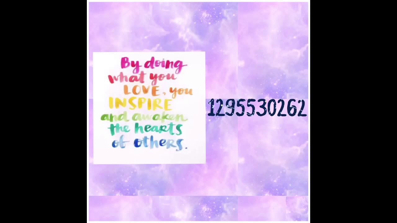 Roblox Inspirational Quote Decal Id S Youtube