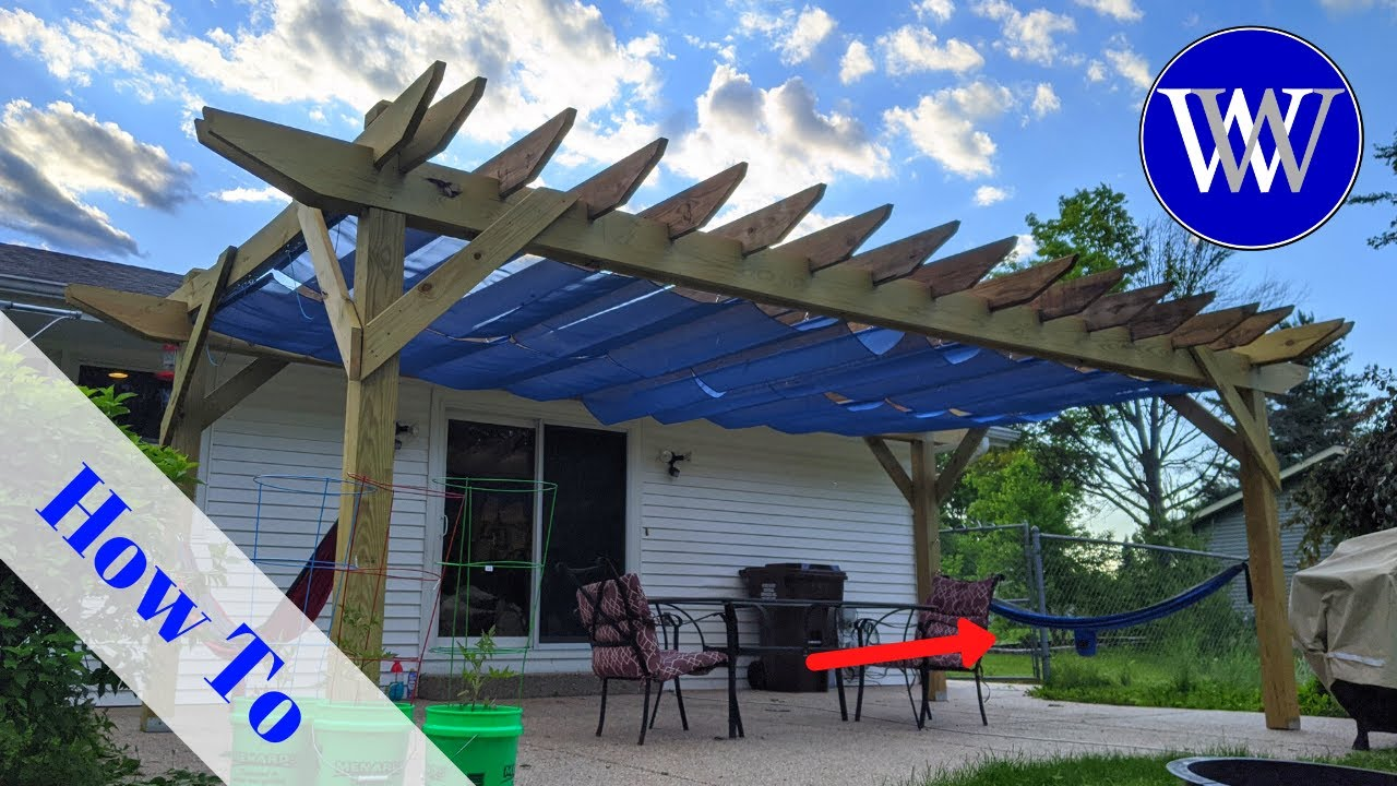 How to Build a Pergola with Retractable Awning