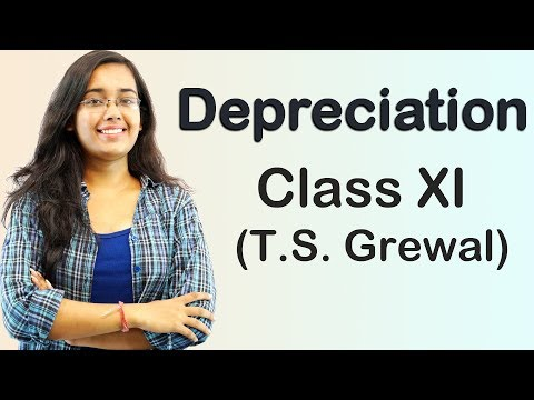 Depreciation - Asset Disposal A/C (T.S Grewal Accounts Class 11th)