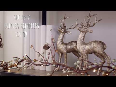 Studio - Gold Christmas Decorations