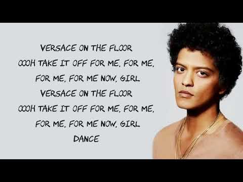 Versace on the floor  Bruno mars  letra