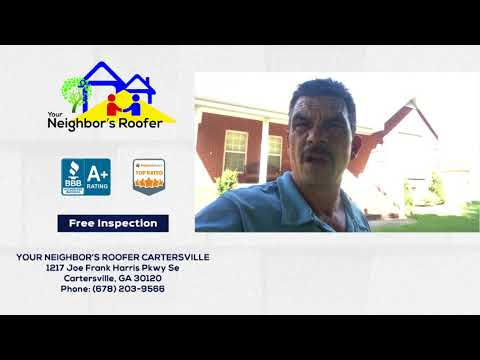 August 4, 2018 - Jerry is Helping Homeowners in Cartersville, GA File Roof Damage Insurance Claims