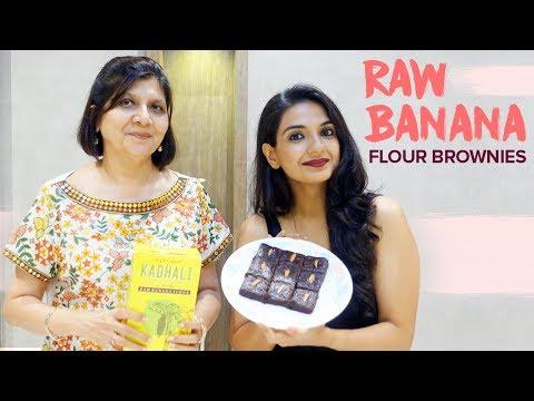 Raw Banana Flour Brownies (Gluten Free + Vegan)