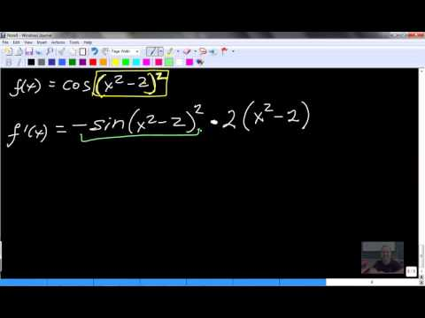 Calculus 30 7.1 - 7.2 limits, derivatives Sin Cos #3of3