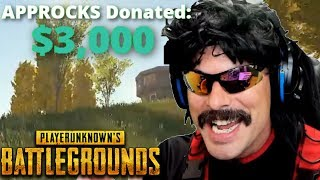 DrDisRespect gets a $3,000+ Donation and Best Moments on PUBG!