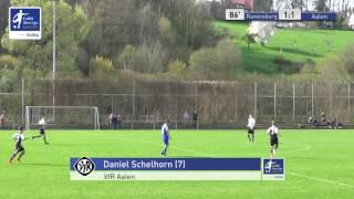 A-Junioren - FV Ravensburg vs. VfR Aalen 1-1 Daniel Schelhorn