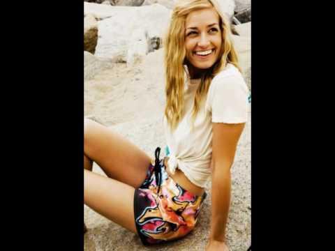 Beth Behrs Hidden Camera Beach Bikini Belly Button