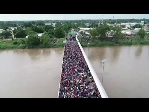 Thousands Of Migrants Stopped At Guatemala-Mexico Border | NBC Nightly News