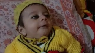 Cute baby talking to her Sister..??