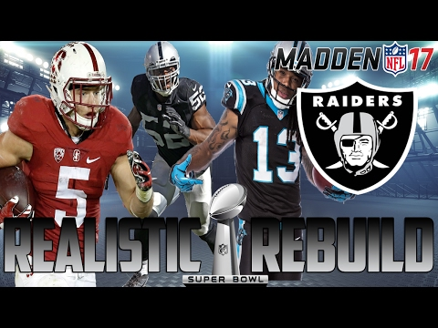 Madden 17 CFM | Realistic Rebuild: Oakland Raiders | Christian McCaffrey + 50 Sack Khalil Mack