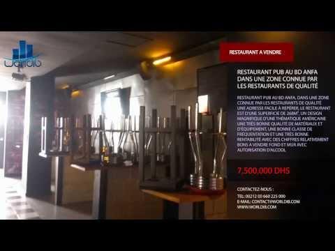 RESTAURANT PUB AU BD ANFA CASABLANCA --- WORLDIB --- AGENCE IMMOBILIERE --- CASABLANCA --- MAROC