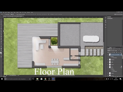 How to do an architectural floor plan with Photoshop