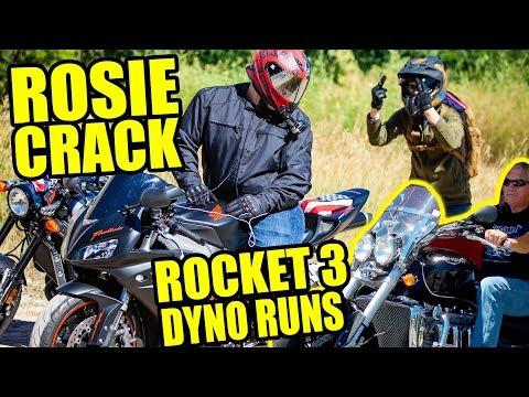 Rosie, Crack & Triumph Rocket 3 Dyno!