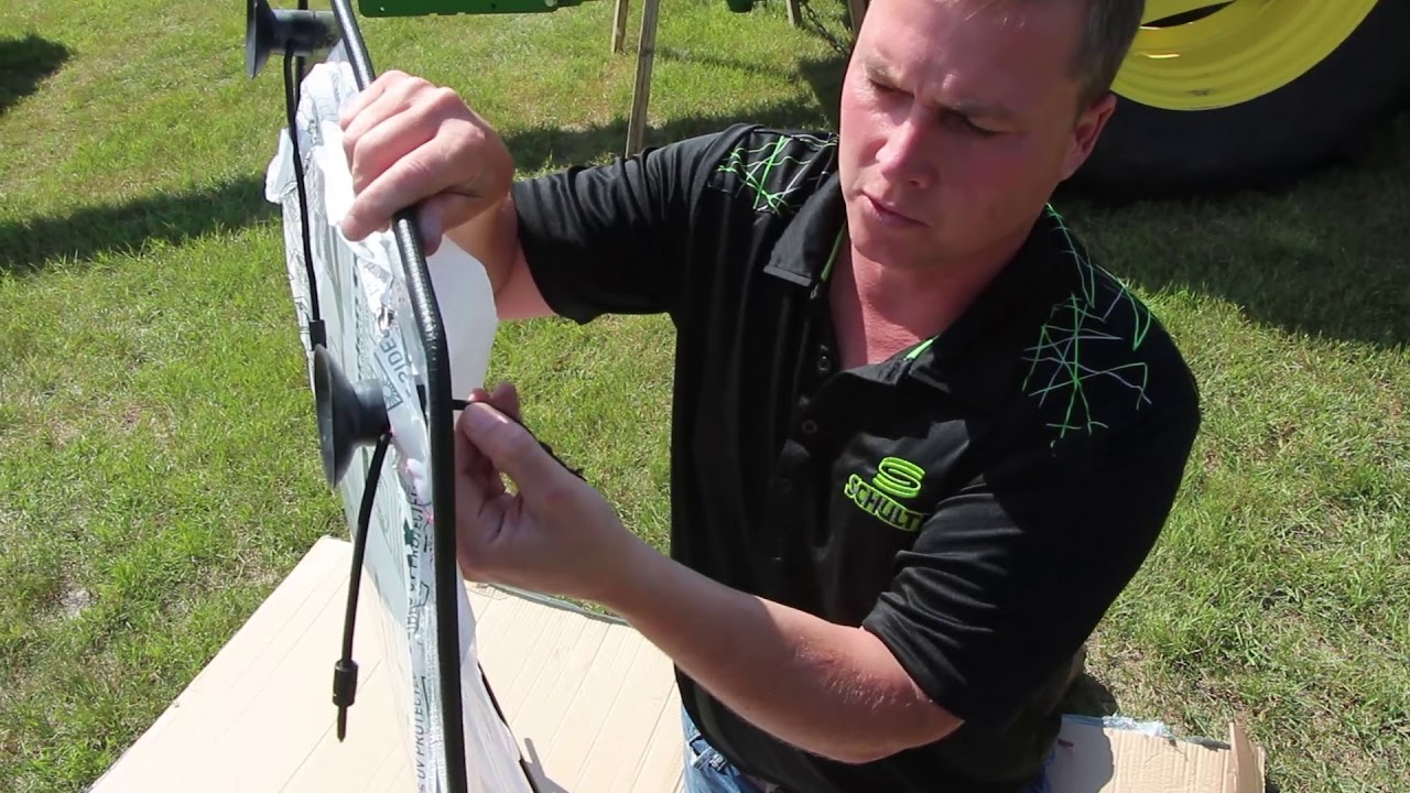 Tractor Rear Window Protection : Tractor guard window protector installation youtube