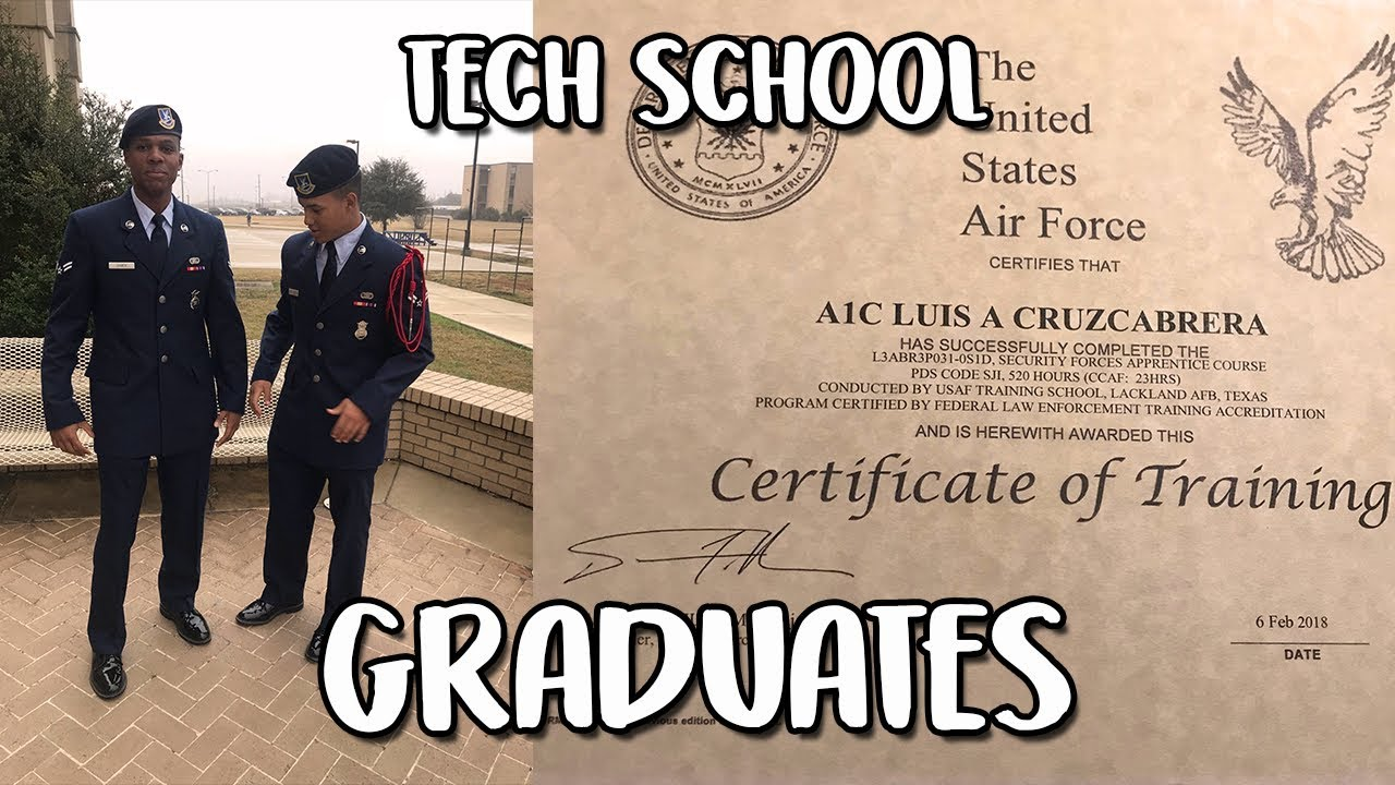 I FINALLY Graduated Security Forces Tech School + How It Feels