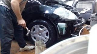 Nissan TIIDA ремонт крыла.