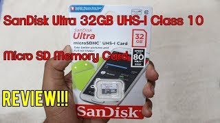 SanDisk Ultra 32GB UHS-I Class 10 Micro SD Memory Card | REVIEW(Hindi)