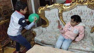مرام خافت من البالون ومازن اخد كل الايسكريمات !!!