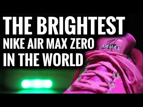 The Brightest Nike Air Max Zero In The World | Light Up Shoes