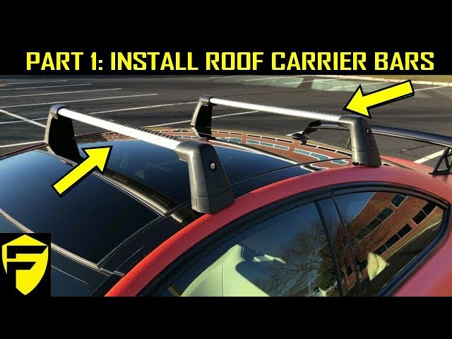 install roof carrier cross bars