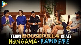 FUN GALORE: Housefull 4 Star Cast's DHAMAKEDAR Rapid Fire | Akshay | Riteish | Bobby | Kriti | Pooja
