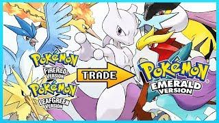 Pokemon Emerald - Getting Mewtwo,Articuno,Moltres,Zapdos,Raikou,Entei & Suicune using Trade