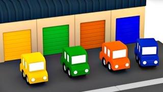 Развивающий мультфильм для детей 4 МАШИНКИ. Горшочки с цветами. 3D мультики про машинки.