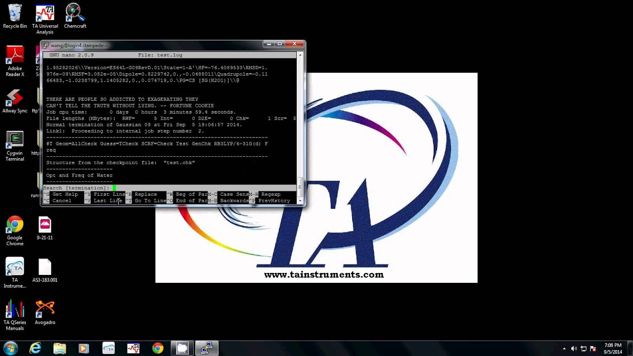 How to set up Gaussian 09 on stampede tacc utexas edu
