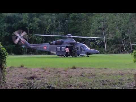 Air Guard providing logistics for media personnel in Grand Rivere