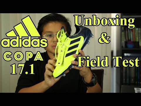 Unboxing and Field test - Adidas Copa 17.1 FG Soccer Cleat - Ocean Storm Pack